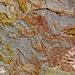 Detail der Gesteinsstrukturen im obersten Bereich der Gola di Gorropu Schlucht.