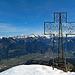 das Gipfelkreuz auf der Mondspitze