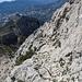 Der aus der Scharte nach rechts laufende Pfad führt relaxt zurück zu den Casas di Bernia