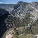 Rückblick in den Barranc del Tarongers vom Aufstieg zum Alt del Castellar