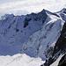 Auf dem Hugisattel erblickte ich sofort das Oberaarhorn, wo ich letztes Jahr in den Wolken herum tappte.