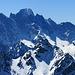 wunderschöne Granitberge des Bergells - eine der wenigen Granitintrusionen im gesamten Alpenraum