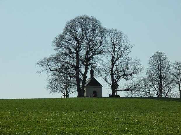 Maria Dank Kapelle auf dem höchsten Punkt weit und breit(718m)-ein faszinierender Ort, auch wenn man nicht gläubig ist