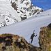 Josh vor dem Vorder Sustenhorn mit seiner schönen Ostflanke