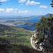 Gipfelaussicht auf den Vierwaldstättersee und die Agglomeration  Luzern