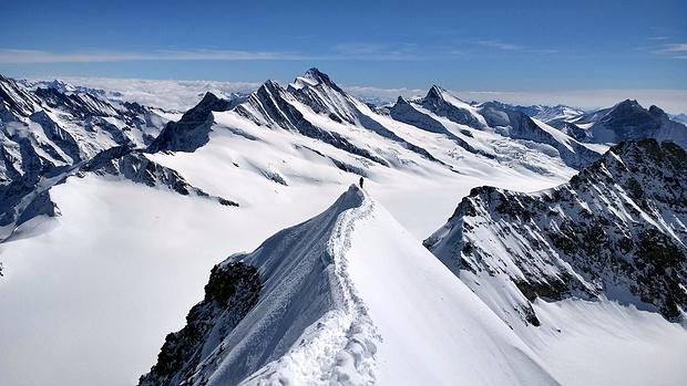 Der Gipfelgrat - ein Traum!