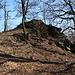 Zvon (Francká hora) - Am Gipfelfelsen.