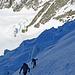Aufstieg zum oberen Gletscher-Plateau