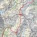Routenverlauf  Quelle: SchweizMobil