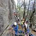 Gut besuchter Klettergarten