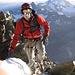 Frisch und munter gehts hoch (im Hintergrund das nächste Ziel Weisshorn 4505m)