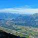 immer mit einer tollen Aussicht ins obere Rheintal und zur Alvierkette hinüber.