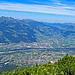 und immer dabei die Superaussicht ins Rheintal und zum Alpstein