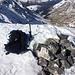 Bei besten Bedingungen alleine auf dem Gletscher Ducan, und das am Karfreitag