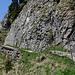 Auf dem Felsenweg, den letzten Metern zum Stanserhorn.