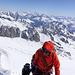 Bergführer mit seinen zwei Gästen