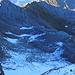 der Blau Schnee vom Säntis aus