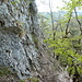 Seilgesicherte Steilstufe