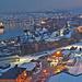 Narvik: Blick auf den nächtlichen Hafen ...
