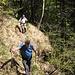 Sentierino stretto ma ancora visibile tra Alpe Bercogn e Riale di Mercori