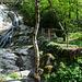 """Der erste Wasserfall in der """"Combe du Pilouvi""""."""