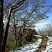 der Weg zum Grande Roche, im Hintergrund der Felskopf