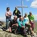 Tutti contenti in vetta alla Punta Martin: Battista,Max64,Gabri,Patrizia,Barbara,Beppe