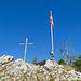 Gipfelkreuz und -fahne Stockflue