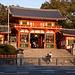 Eingangsbereich des Yasaki-Schreins / 八坂神社.