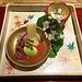 In  Kyoto kann man sehr gut (und teuer) essen. Kaiseki ist ein mehrgängiges japanisches Menu, dass mit sehr viel Liebe zum Detail zubereitet und serviert wird.
