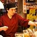 Verkäufer auf dem Nishiki-Markt.