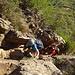 Tourinette und LionsHead in der ersten steileren Passage