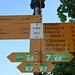 Ab Rheinufer ist das Ziel St. Chrischona signalisiert.