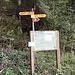 Chez le Bôle - hier folgt man dem Wanderweg einige Meter in Richtung Goumois