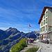 das Berggasthaus Schäfler, im Hintergrund der Altmann