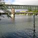 Eisenbahnbrücke, dahinter Strassenbrücke in Koblenz