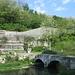 """Il ponte in pietra che supera il fiume Olona e che porta a Castiglione Olona; dalla parte opposta si vedono i primi tornanti del """"Piccolo Stelvio"""" una classica, bella e non lunga salita asfaltata, che conduce a Gornate Olona."""