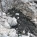 I resti di un deposito di carbonella