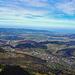 Blick das  Rheintal hinunter