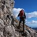 Die obersten 100Hm werden auf einem steilen, felsigen Pfad erklommen.