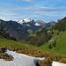 Blick die Neuenalp hinunter zum Mittagberg
