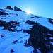 Beim abgeblasenen Übergang vom Kleindoldenhorn NW-Rücken zur W-Flanke