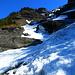 Blick zurück zum Bibergcouloir: der blaue Himmel entschädigt für die Mühen...
