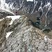 Kurz vor dem Gipfel wurde das Seil herausgeholt.