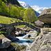 Die Brücke, deren Bild uns auf das Val Calnègia aufmerksam gemacht hat.