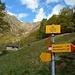 i cartelli posti poco prima dell'Alpe di Ravinella