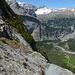 Abstieg auf dem Balmhornhüttenweg: über dem vorderen Gasteretal Gross und Chlyne Lohner