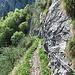 Von der Leiter führt ein schön angelegter Weg zum Cholplatz.
