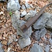 Am Wegrand befinden sich Artefakte aus vergangenen Zeiten, als noch Eisenerz aus dem Berg geschafft wurde.