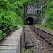Der Wanderweg führt uns oft parallel zur Bahnlinie.